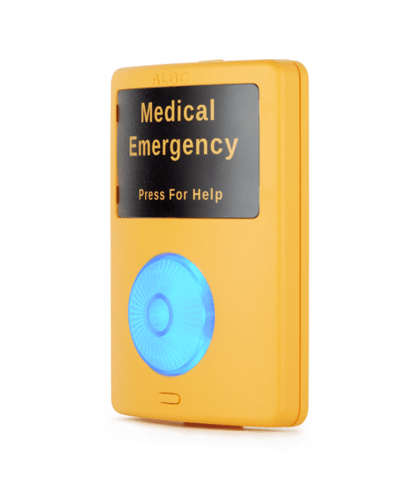 Algo 1202 Call Button for Emergency Alerting (side view)